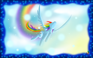 Rainbow Dash Wallpaper by fluffycawwot