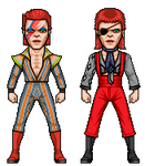 David Bowie- early 70's by alexmicroheroes