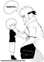 Minato and Naruto - Don't leave me alone! by NaruSasuSaku91