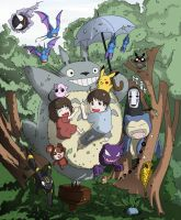 Totoro and Friends by smilingturtle