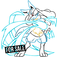 Lucario Tribal Lineart by criticalcreations