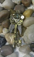 Clock-work Angel Fantasy Key by ArtByStarlaMoore