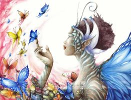 African butterfly fairy by delfee