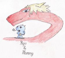 Ryu and mommy by Jakesword
