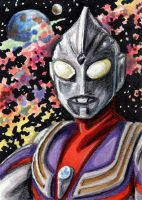 ACEO - Ultraman TIGA by JRtheMonsterboy