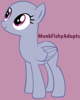 Pretty Pegasus - Pony Base by MonkFishyAdopts