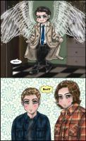 Supernatural S8.07 gag manga : Better? by noji1203