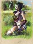Completed female barbarian study 001 by SpiritedFool