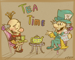 King Candy and Mad Hatter: Tea Time by n33rrx