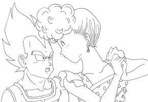 Vegeta and Mrs.Brief by OsoroshiiYasai
