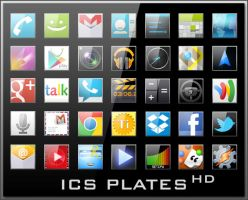 Android Icons | ICS Plates HD by lostintortola