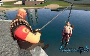 Fishing with the Heavy by xXNightshade96Xx