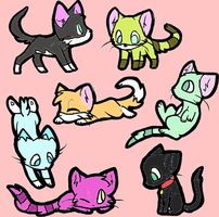 Kittys My Ocs  by digitaldash