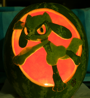 Riolu Watermelon Light Version by johwee
