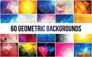 60 Abstract Polygonal Geometric Backgrounds by BlueLela