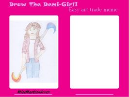 Draw Demi-girl meme - Carly and Megan by MissMartian4ever