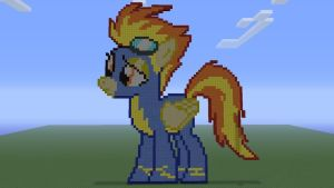 MLP Spitfire in Minecraft by o0rolyat0o