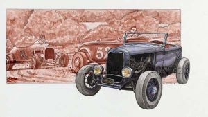 Bl- Ford A Hot rod - 2013 - 32 x 41 by fredlaurent47