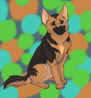German Shepherd Request by StormFalconFire
