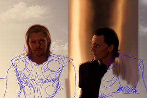 WIP Thor and Loki 04 by MarinaSchiffer