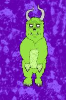 Hairy Monster. by paperairplane