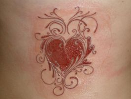 Heart Design Tattoo by KB1412