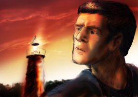 Scotty and a lighthouse by infiniteviking