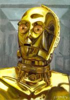 C3PO card 210 by charles-hall