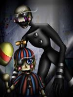FNAF- The puppet and Balloon boy by mgwolf999