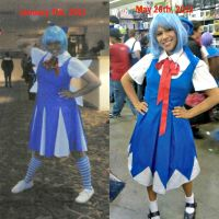 Cirno: Cosplay Comparison by Fuzzdufuz