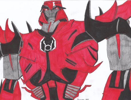 Red Lantern Megatron by valdak26