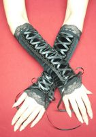 Velvet Gloves in corset style by Estylissimo