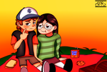 Dipper And Candy in a Picnic [Day 4] by Rainbowphin