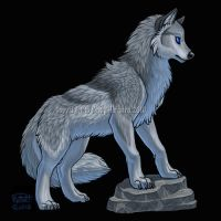 Waterlily Silver Wolf by Shadow-Wolf