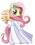 Fluttershy - Wedding Dress by Bukoya-Star