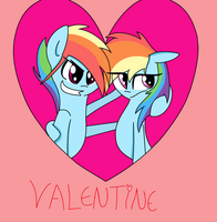 rainbow dash and rainbow blitz valentine by nederside