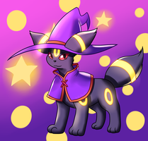 Witchy Umbreon by Inika-Xeathis