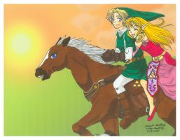 Zelda: Sunset Ride by Ryoko-and-Yami