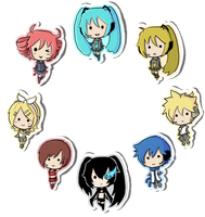 Vocaloid Stickers by Ika-Boushi