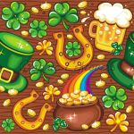 St. Patrick's Day Seamless Bac by kingofvectors