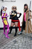 Rouge, Gamit and Ms Marvel by Rebecca-Manuel