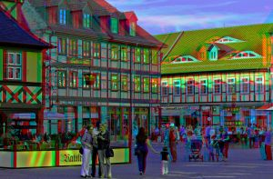 Market Square Of Wernigerode :: Dubois Anaglyph 3D by zour