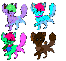 FREE! cat adoptables CLOSED! ( batch 4 ) by FrankinPoodle
