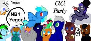 O.C. party by THEshortperson