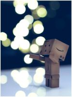 Christmas lights enlightened Danbo by frestro79