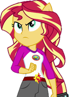 Sunset Shimmer ready to fight by 76859Thomasreturn