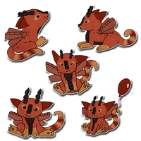 Thistle Chibis by ghillietoes42