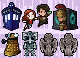 DR WHO MAGNET SERIES 1 by benlikesit
