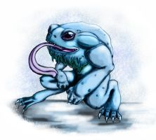 Frost Toad by sixlegdragon