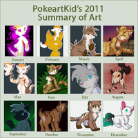 2011 Summary Of Art - Non-Pixel by PokeartKid